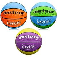 meteor® Layup Mini Basketball fur Kinder Größe #3 ideal auf die Kinderhände von 4-8 Jährigen abgestimmt idealer Jugend Basketball für Ausbildung weicher Basketball mit griffiger Oberfläche