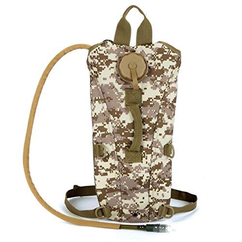 F@UniGear idratazione zaino idratazione Pack tactical Pack Hydra idratazione della vescica con bere tubo zaino con le bolle di acqua 2.5 l ideale per escursionismo, ciclismo jogging, passeggiate, arra desert
