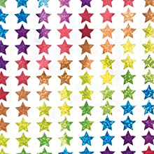 Baker Ross AT216 Mini Holographic Star Stickers, Christmas Arts and Crafts (Pack of 400), Assorted