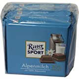 Ritter Sport Alpenmilch Schokolade 100g 5er Pack