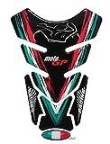 Tankpad 3D - 500220 - Italia / Italien Flagge / Moto GP / Racing - universell für Yamaha, Honda, Ducati, Suzuki, Kawasaki, KTM, BMW, Triumph und Aprilia Tanks