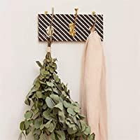 Geometric Patterned Mismatched Coat Rack In Two Sizes