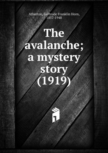 The avalanche; a mystery story (1919)