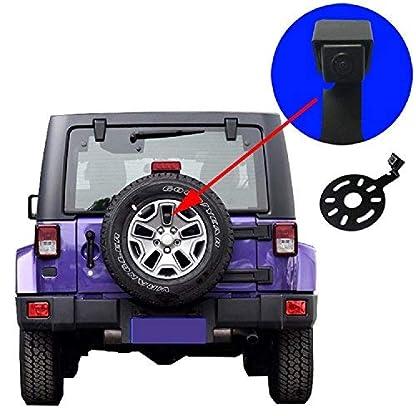 Rckfahrkamera-KFZ-Rckfahrsystem-DistanzlinienRckansicht-Reserveradhalterung-Kamera-fr-97-17-Jeep-Wrangler-JK-TJ-LJ-YJ-CJ-RubiconSahara-Unlimited-Sahara
