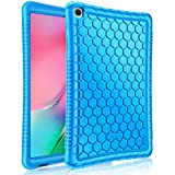 """FINTIE Silicone Case for Samsung Galaxy Tab A 10.1"""" (2019) Model SM-T510 / T515, [Honey Comb Series] [Kids Friendly] Soft Light Weight Shock Proof Protective Cover, Blue"""