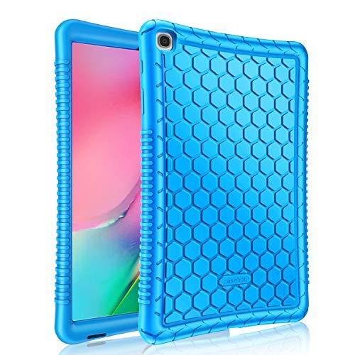 Fintie Funda de Silicona para Samsung Galaxy Tab A 10.1 2019 - [Honey Comb Series] Carcasa Ligera de Silicón Antideslizante para Niños a Prueba de Golpes para Modelo SM-T510/T515, Azul