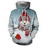 Paare Stil Weihnachts 3D Drucken Unisex Outwear Kapuzenpullover EUZeo Weihnachten Jacke Pulli Casual Kapuzenpulli Von Christmas Deals
