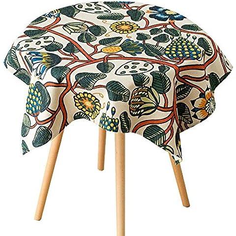 TOYM- Flores pintadas a mano Pastoral Lino de algodón Tela de mesa Lado de gabinete Cubierto toallas TV Cabinet cubierta de toallas Tabla de café Cubierto toallas ( Tamaño : 140*100cm )