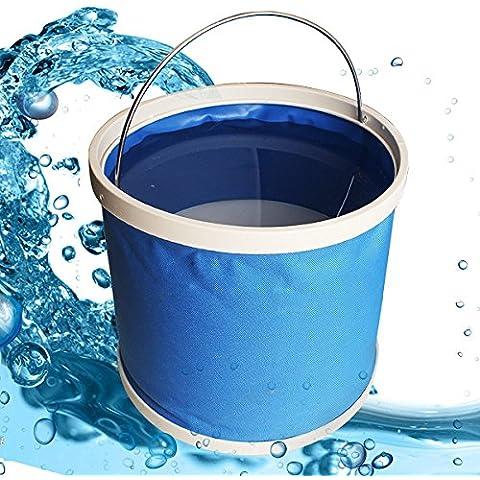 Acqua portatile resistente tessuto Lavabo Car pesca benna per il campeggio / lavaggio dell'automobile / Pesca / escursionismo / Beach di EarthSafe (11 litri / 3gallon) - Benna Caso