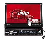Caliber RDD571BT Moniceiver, 1Din Autoradio ; 7Zoll TFT Schirm/DVD mit Anschluss für Rückfahrkamera, inkl. Fernbedienung, Bluetooth-Freisprecheichanlage, schwarz
