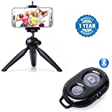 #4: Captcha 228 Mini Tripod Stand With Phone Clip HolderAnd Bluetooth Wireless Remote Shutter Photo Clicker Control