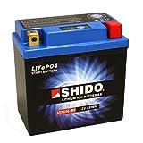 Batería shido Lithium ltx14l de BS/YTX14L de BS, 12V/12Ah (tamaño: 150x 87x 145) para Buell...