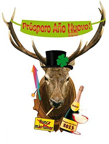 san-silvestro-deer-head-prspero-ao-nuevo-good-intentions-in-spanish-sticker-adesivo-da-parete-149-x-