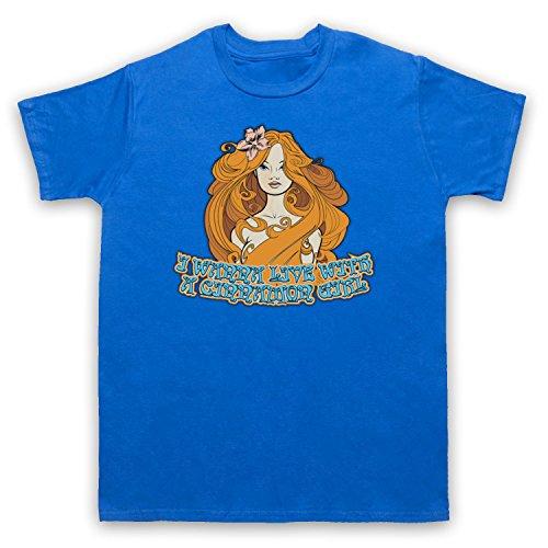 Inspiriert durch Neil Young Cinnamon Girl Unofficial Herren T-Shirt Blau