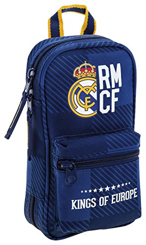 Real Madrid – Plumier y portatodo, 12 x 23 x 5 cm, color azul (Safta 411724747)