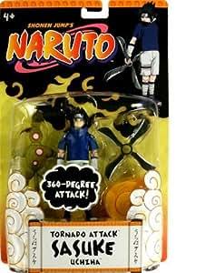 Mattel - Figurine Manga - Naruto Luxe 12 cm -  Sasuke Uchiha - Tornado Attack