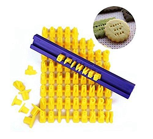 wuudi DIY Fondant Werkzeug Alphabet Buchstaben Zahlen Kekse Kuchen Gebäck Stempel Formstanzer sterben Cutter Cookie Form Alphabet Cookie Cutter