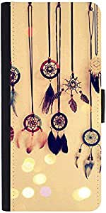 Snoogg Dream Catcher Days Graphic Snap On Hard Back Leather + Pc Flip Cover S...