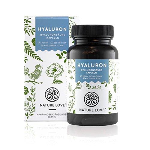Hyaluronsäure Kapseln - Hochdosiert mit 320 mg. 90 vegane Kapseln (3 Monate). Laborgeprüft, ohne Magnesiumstearat. Hyaluron aus Fermentation mit 500-700 kDa (mikro-molekular). Vegan, hergestellt in Deutschland