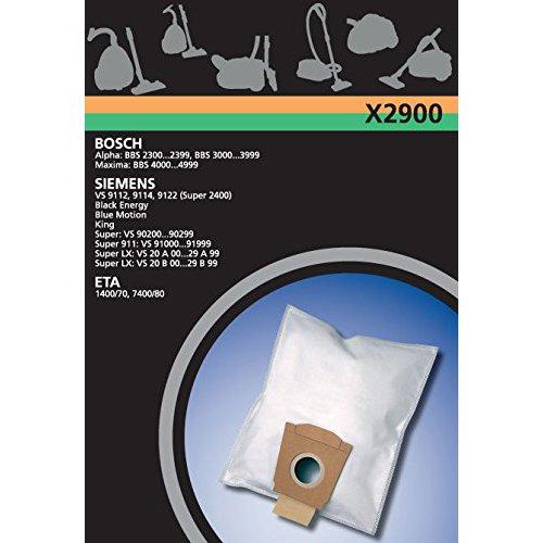 Electrolux X2900 X-Range 4 Staubbeutel Synthetik, u.a. für Bosch, Siemens VS20, VS90000