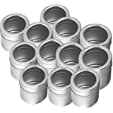 King International Stainless Steel See Through Spice Container, Seasoning Container,(Small)Set Of 12 Piece For Kitchen And Outdoor Barbecue