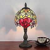 Gweat 6 Zoll Rose Pastorale Retro antike Tischlampe Nachttischlampe