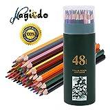 Colorful nicht Wasserlösliche Künstlerfarbstift Zeichenstifte, Artistic Sketch, Kinder oder Erwachsene Zeichnen Bleistifte, Set von 12/18/24/36/48 Farben sortiert 48