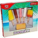 Unbekannt Langnese Icemix aus Holz, 6 Teile, Capri, Kaufladen Zubehör Lebensmittel Langnese Kaufmannladen Spielküche Zubehoer