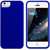 vau Snap Case Slider - matte blue - zweigeteiltes Hard-Case für Apple iPhone 5 & iPhone 5S