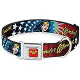 Buckle Down 22,9–38,1cm Wonder Woman Face W/Sternen Hundehalsband