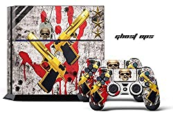 247Skins PS4 Designer Skin Console System plus Two(2) Decals for PS4 Dualshock Controller - Ghost Ops