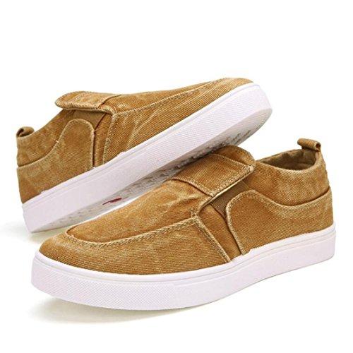 Mann-Art Niedrig Oberseite Turnschuh beiläufige Loafer Ebene Segeltuch Schuhe Bootsschuhe Espadrilles Sneaker Khaki