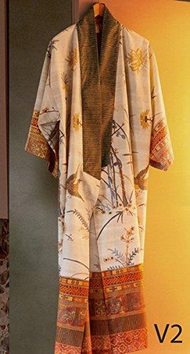 Preisvergleich Produktbild bassetti Bademantel Kimono Fong - Farbe: beige - V2, Größe: S/M (99238)
