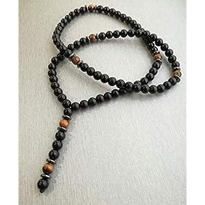 Halskette mit Halbedelstein Onyx Tigerauge Y-kette damenkette herrenkette Schmuck