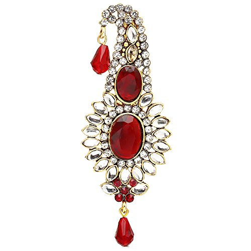 Sanjog Golden Plated Red Stone Classy Safa Kalangi For Groom/men