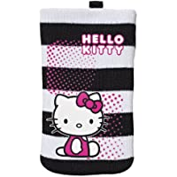 Hello Kitty Universal Smartphone Cleaning Sock - Black/White Striped