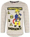 Feuerwehrmann Sam Langarmshirt Jungen Rundhalsausschnitt (Grau, 116)