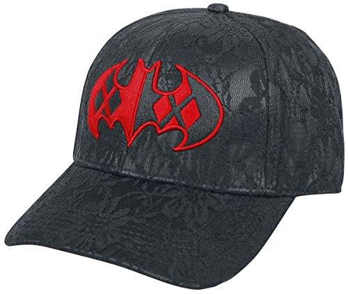 Harley Quinn Batman Logo Baseball-Cap schwarz/rot (Harley-damen-hut)
