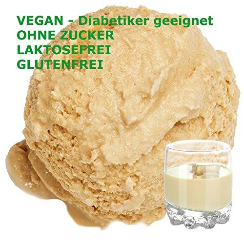 Baileys Irish Cream Geschmack Eispulver VEGAN - OHNE ZUCKER - LAKTOSEFREI - GLUTENFREI - FETTARM, auch für Diabetiker Milcheis Softeispulver Speiseeispulver Gino Gelati (Baileys Irish Cream, 333 g)