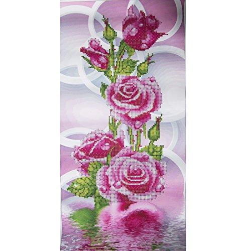 5D-Diamantgemälde zum Selbstgestalten, Motiv: Rosen, Stickbild, Wanddekoration