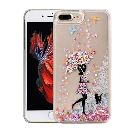 Ouneed® For iPhone 7 Plus Hülle, Glitter Powder Quicksand Star Solid Back Case Cover für iPhone 7 Plus 5.5 Zoll (5.5 Zoll, A) A