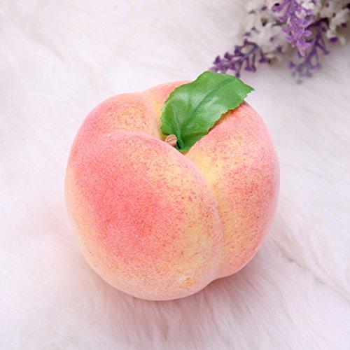 Bluelover 5pcs artificiale falso ortofrutta peach forma stampo decorazione domestica puntelli di insegnamento