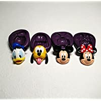 Silicone Molds 2D Disney Theme Set (31mm) Cupcake Topper Chocolate Cookie Resin by Simply Molds