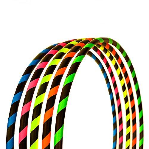 Hoopomania Fitness Hula Hoop Reifen, Neon Blau, 100 cm