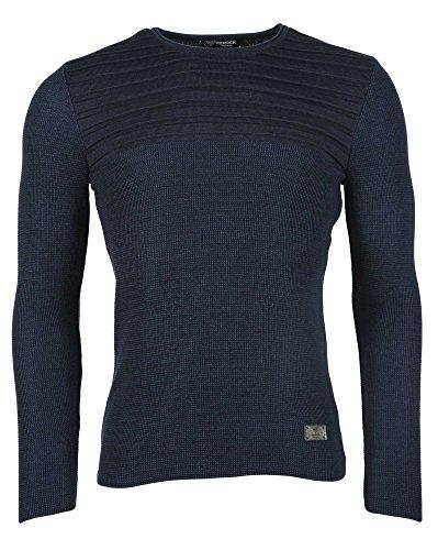 BLZ jeans - Feine dunkelblauen Strickpullover Blau