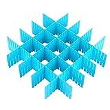 Genmine® 8 verstellbare Schubladeneinteilungen/-organizer aus Kunststoff für Heimwerker (4 lange und 4 kurze Trennwän