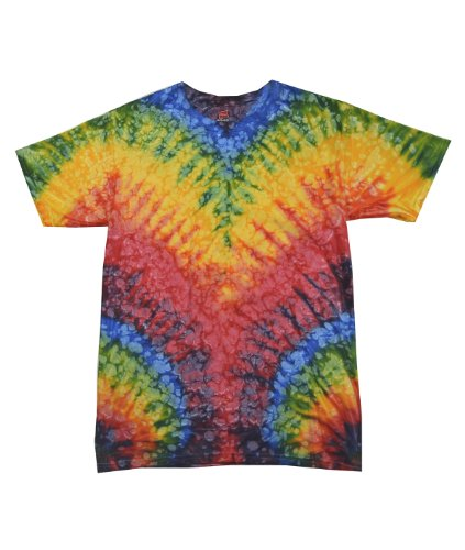 Adult 5.4 oz., 100% Cotton Tie-Dyed T-Shirt WOODSTOCK 2XL