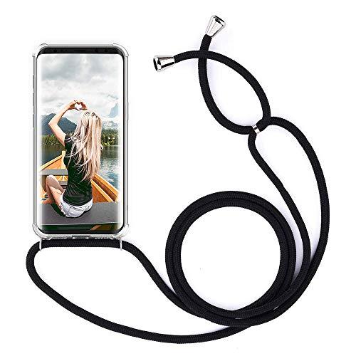 ZHXMALL Unisex Crossbody Handykette für Samsung Galaxy J5 2016 J510, Pouch Bag Mode-Accessoire Handytasche mit 1.5m Verstellbarer Schultergurt für Junge Männer und Frauen Clear Minimalistischer Hülle