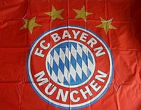 Drapeau FC Bayern Munich Logo–Rouge 150x 100, plus gratuit Stickers Munich Forever, rapeau/Bandera/Flag/drapeau/bannière Munich