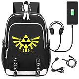 YOYOYOSHome The Legend of Zelda - Zaino da scuola con porta di ricarica USB